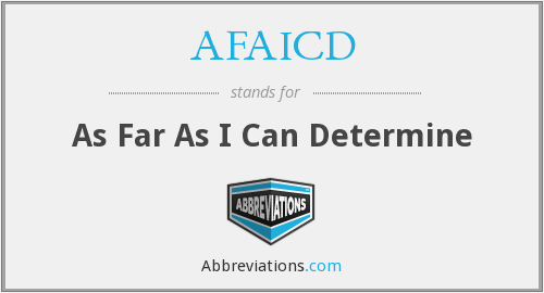What does AFAICD stand for?