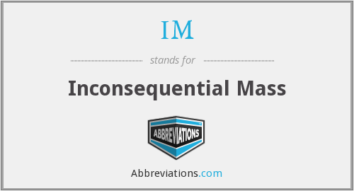 What does inconsequential stand for?