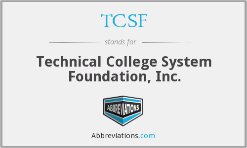 What does TCSF stand for?