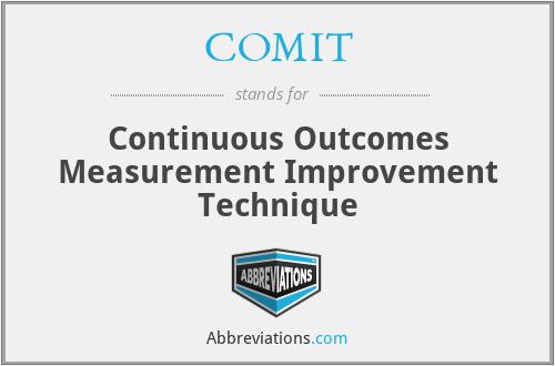 COMIT - Continuous Outcomes Measurement Improvement Technique