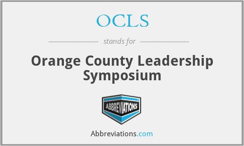 OCLS - Orange County Leadership Symposium