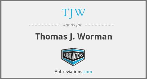 TJW - Thomas J. Worman