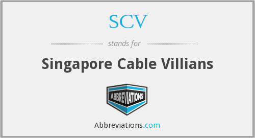 SCV - Singapore Cable Villians