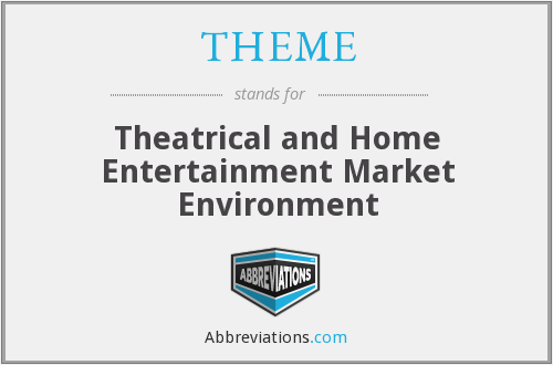 THEME - Theatrical and Home Entertainment Market Environment
