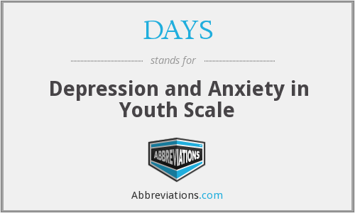 DAYS - Depression and Anxiety in Youth Scale