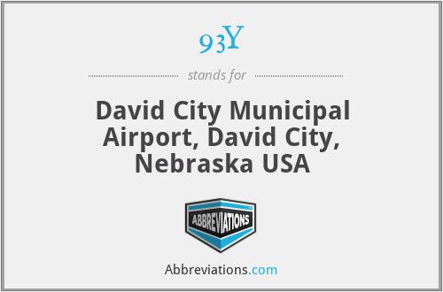 93Y - David City Municipal Airport, David City, Nebraska USA