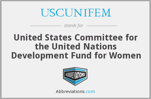 What does USCUNIFEM stand for?