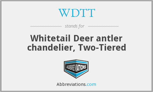 WDTT - Whitetail Deer antler chandelier, Two-Tiered