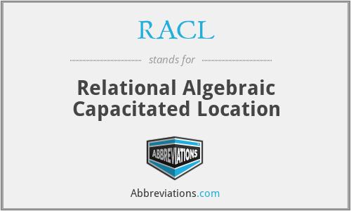 RACL - Relational Algebraic Capacitated Location