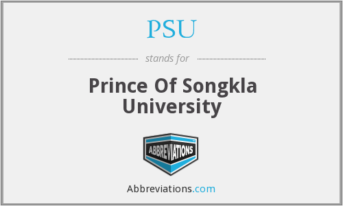 PSU - Prince Of Songkla University
