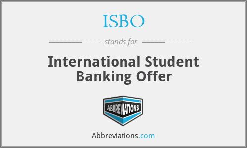 ISBO - International Student Banking Offer
