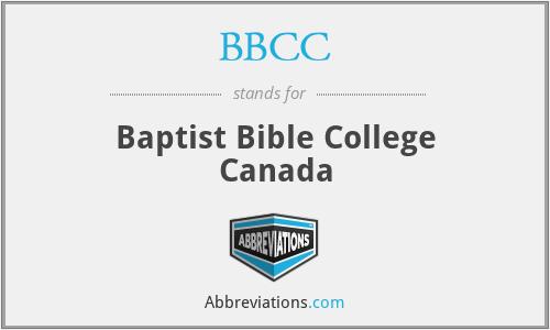 BBCC - Baptist Bible College Canada