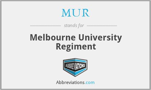 MUR - Melbourne University Regiment