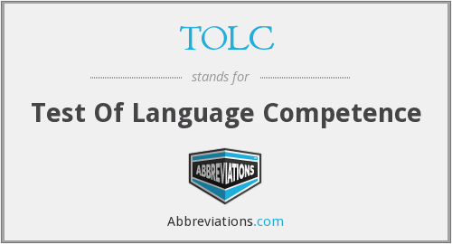 TOLC - Test Of Language Competence