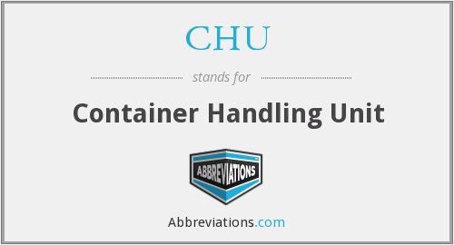 CHU - Container Handling Unit