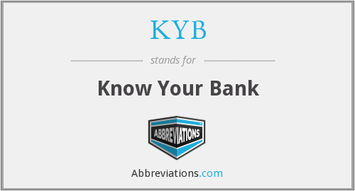 KYB - Know Your Bank
