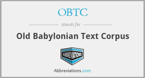OBTC - Old Babylonian Text Corpus