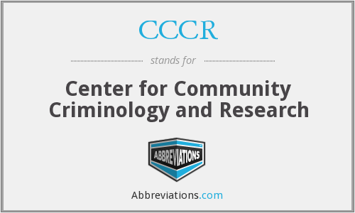 CCCR - Center for Community Criminology and Research