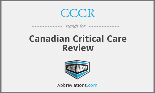 CCCR - Canadian Critical Care Review