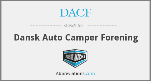 What does DACF stand for?