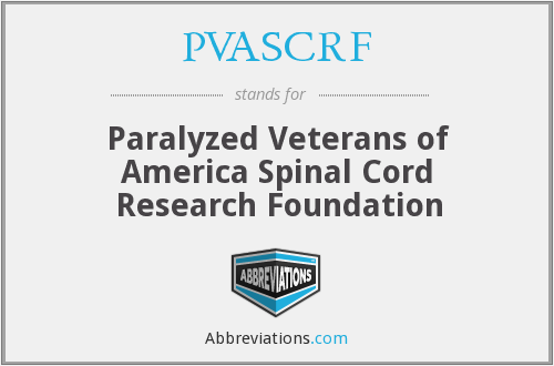 What does PVASCRF stand for?
