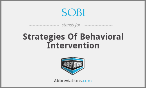 SOBI - Strategies Of Behavioral Intervention