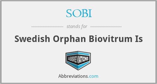 SOBI - Swedish Orphan Biovitrum Is