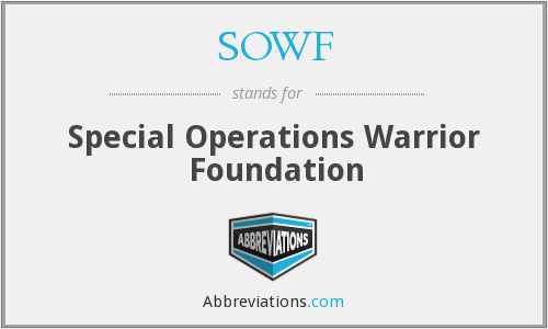 SOWF - Special Operations Warrior Foundation