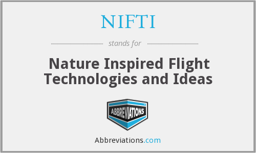NIFTI - Nature Inspired Flight Technologies and Ideas