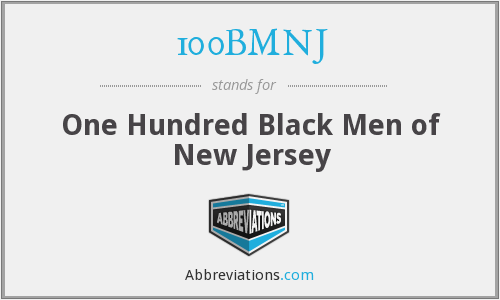 100BMNJ - One Hundred Black Men of New Jersey