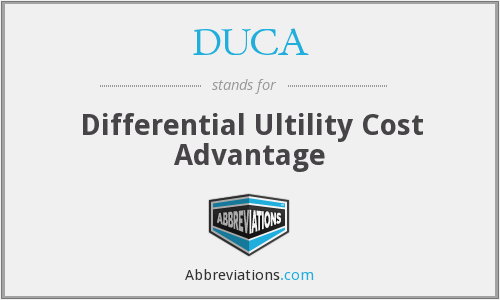 DUCA - Differential Ultility Cost Advantage