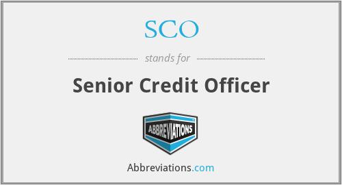 SCO - Senior Credit Officer