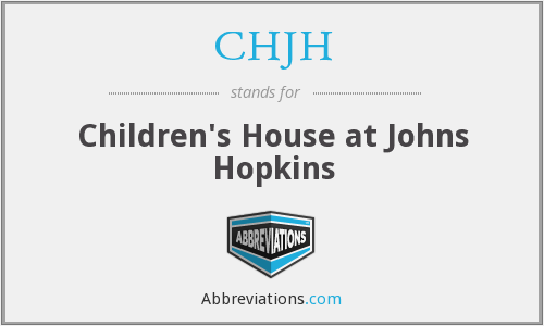 CHJH - Children's House at Johns Hopkins