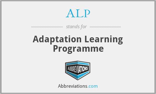 ALP - Adaptation Learning Programme
