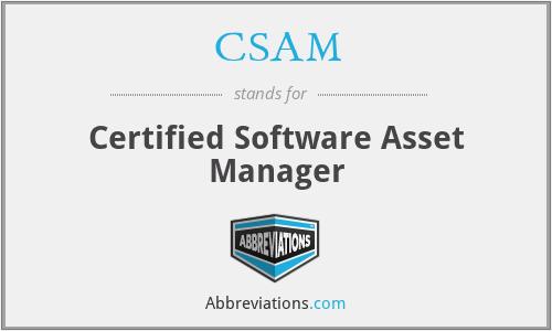CSAM - Certified Software Asset Manager