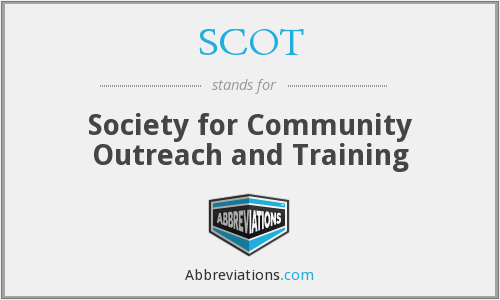 SCOT - Society for Community Outreach and Training