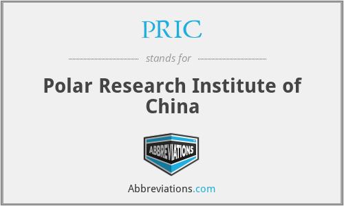 PRIC - Polar Research Institute of China