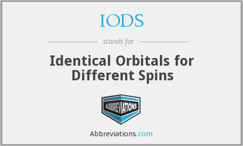 IODS - Identical Orbitals for Different Spins