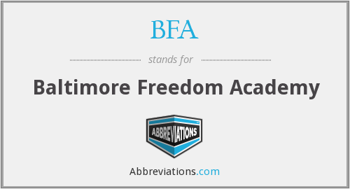 BFA - Baltimore Freedom Academy