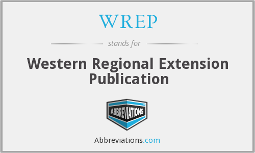 WREP - Western Regional Extension Publication
