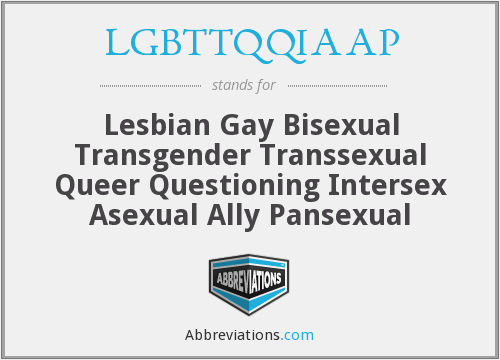 What does LGBTTQQIAAP stand for?