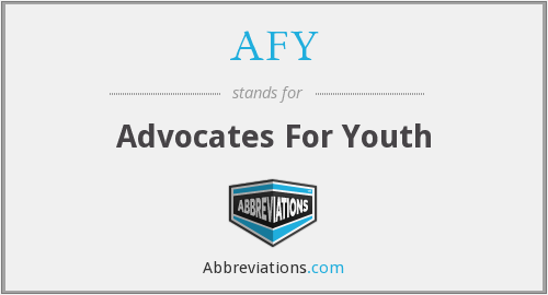 AFY - Advocates For Youth