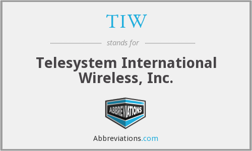 TIW - Telesystem International Wireless, Inc.