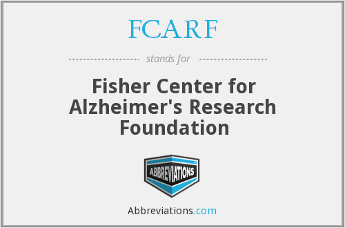 FCARF - Fisher Center for Alzheimer's Research Foundation
