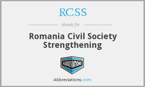 RCSS - Romania Civil Society Strengthening
