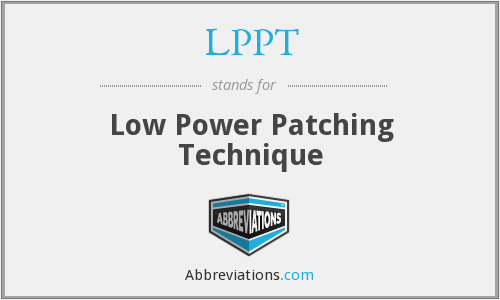 LPPT - Low Power Patching Technique