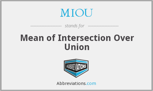 MIOU - Mean of Intersection Over Union