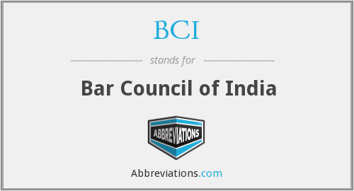 BCI - Bar Council of India
