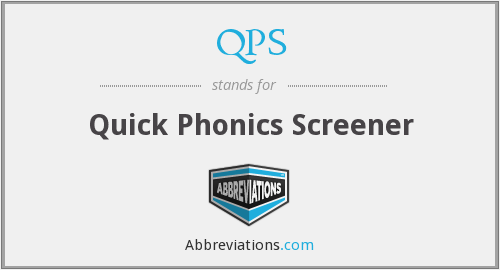 QPS - Quick Phonics Screener