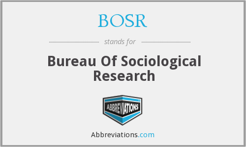 What does BOSR stand for?